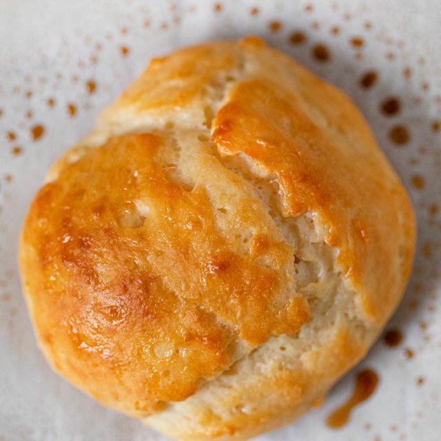 Greek Yogurt Biscuits on baking sheet
