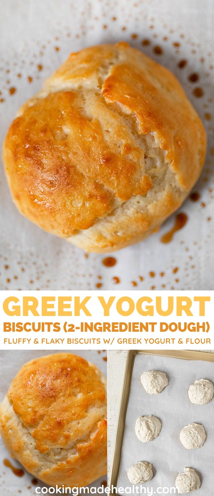2-Ingredient Greek Yogurt Biscuits collage