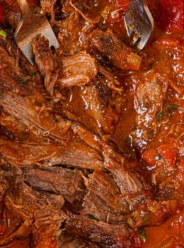 Healthier Italian Pot Roast in pot