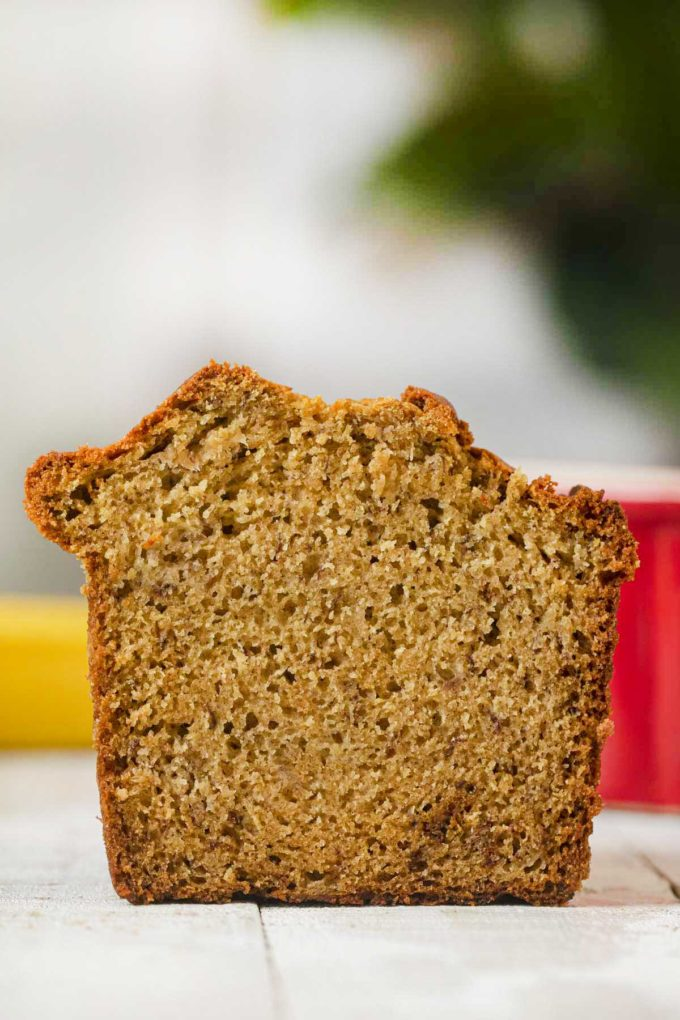 Healthy Banana Bread loaf, sliced