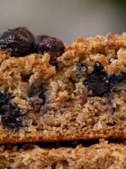 Square of Blueberry Coffee Cake