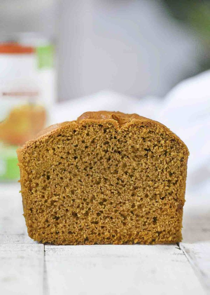 Whole Wheat Pumpkin Bread sliced loaf