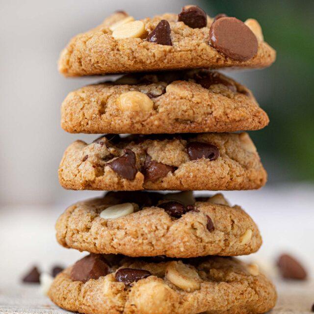 Triple Chocolate Chip Healthy Cookies