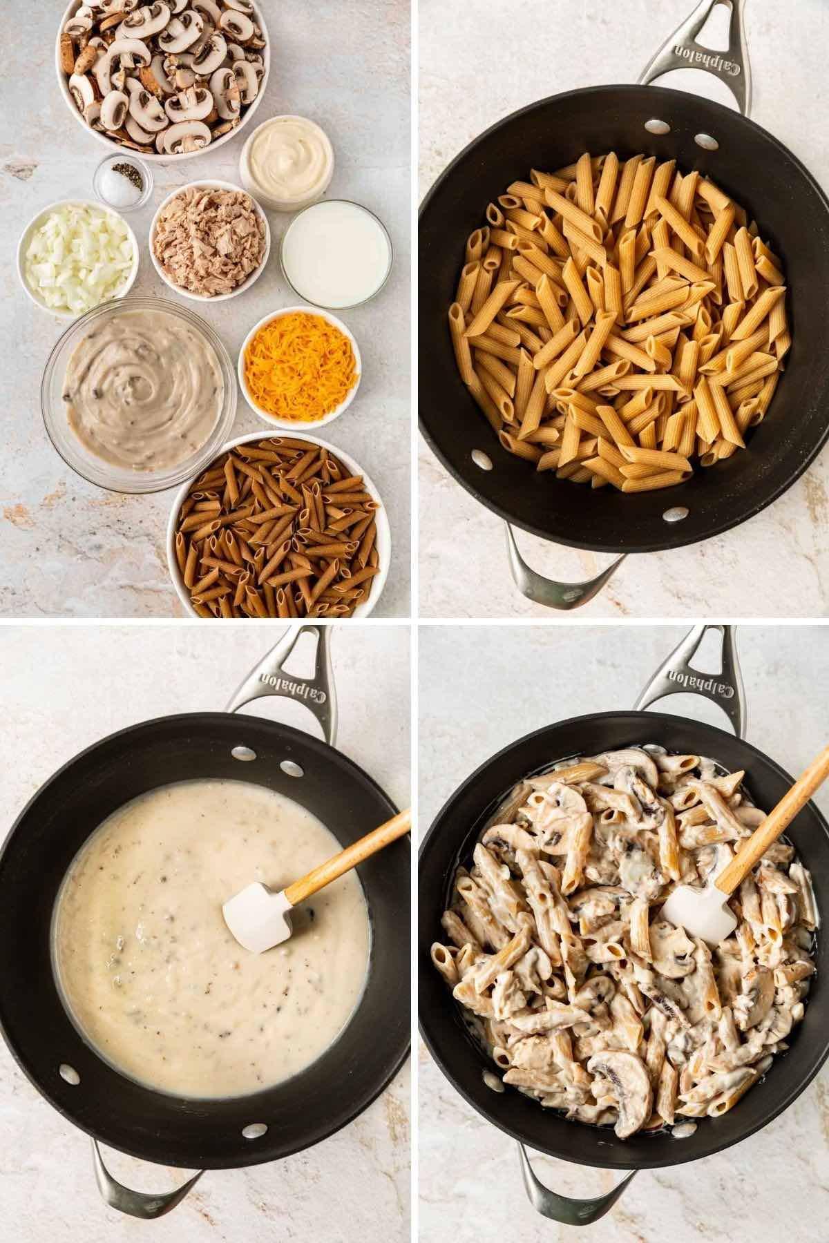 Healthy Tuna Casserole Collage