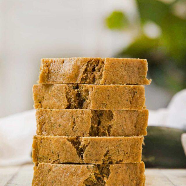 Healthy Whole Wheat Zucchini Bread