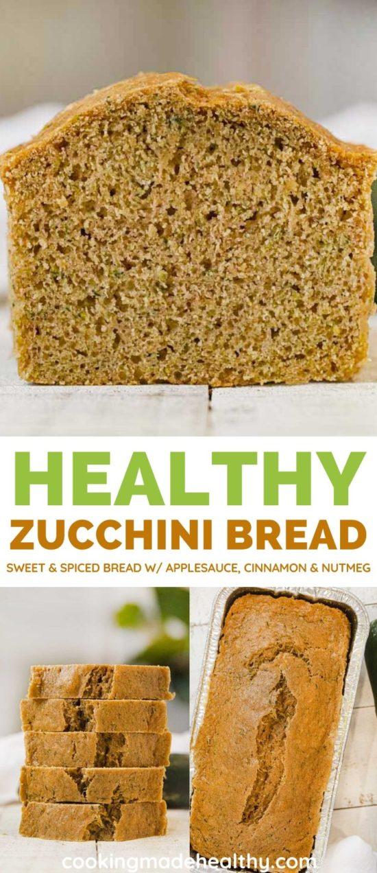 Healthy Zucchini Bread collage