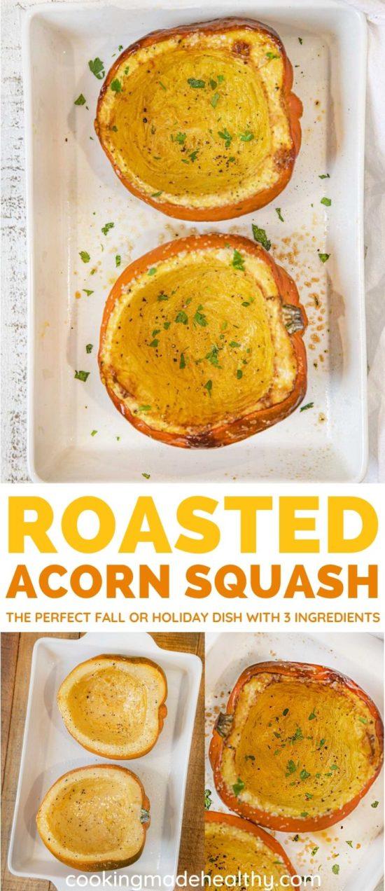 Roasted Acorn Squash collage