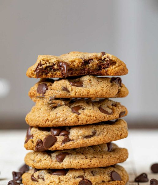 Stack of Whole Wheat Chocolate Chip Cookies