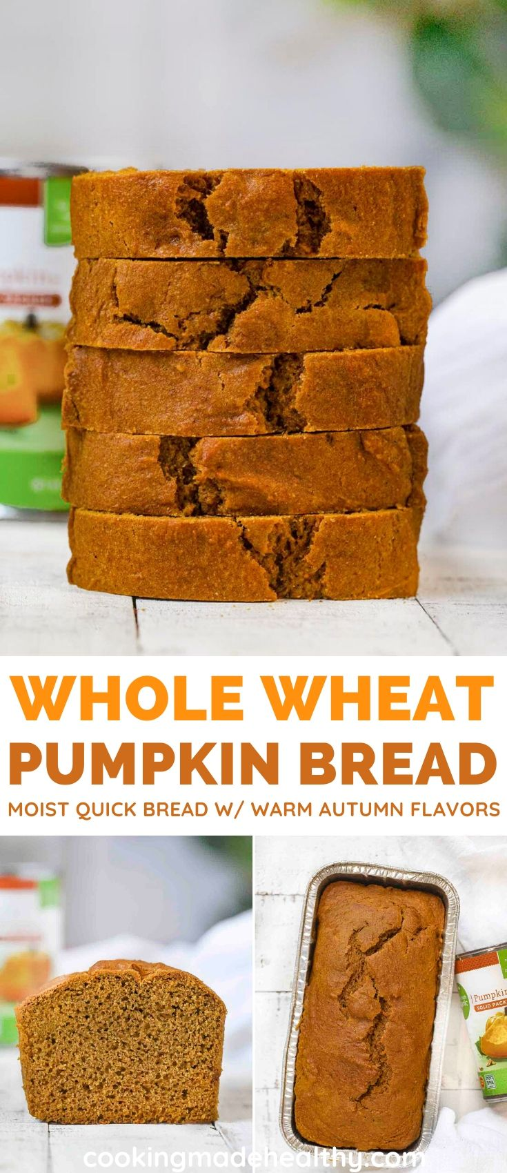 Healthy Pumpkin Bread collage
