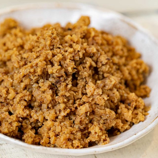 Cauliflower Rice Pilaf in bowl