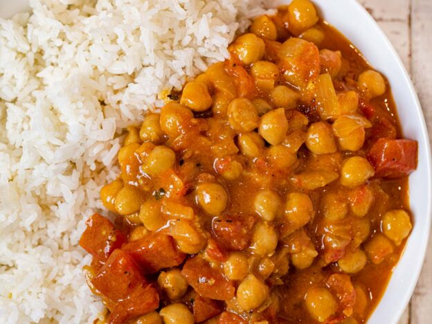 Chickpea Curry in bowl