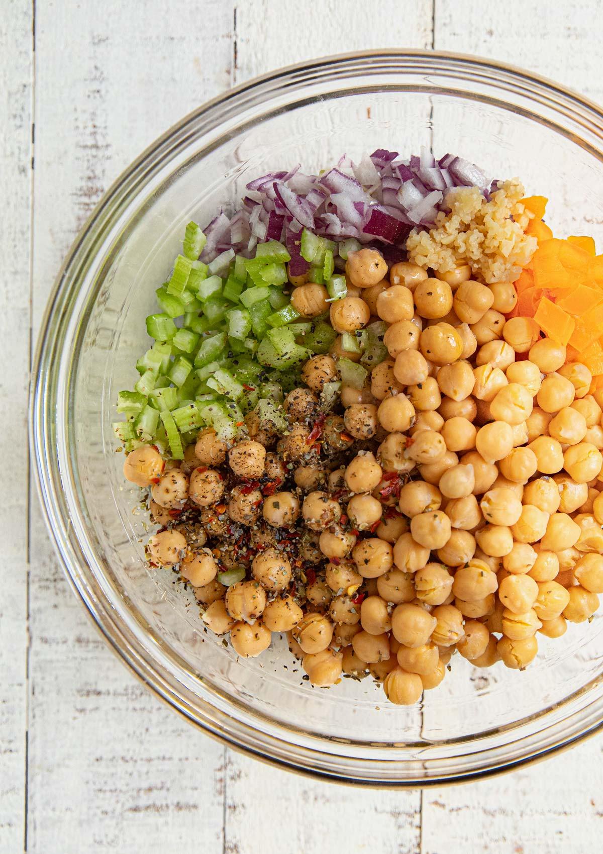 Chickpea Salad Ingredients