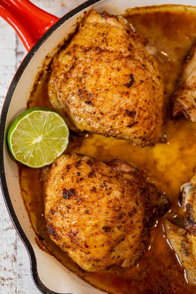 Chili Lime Chicken in pan