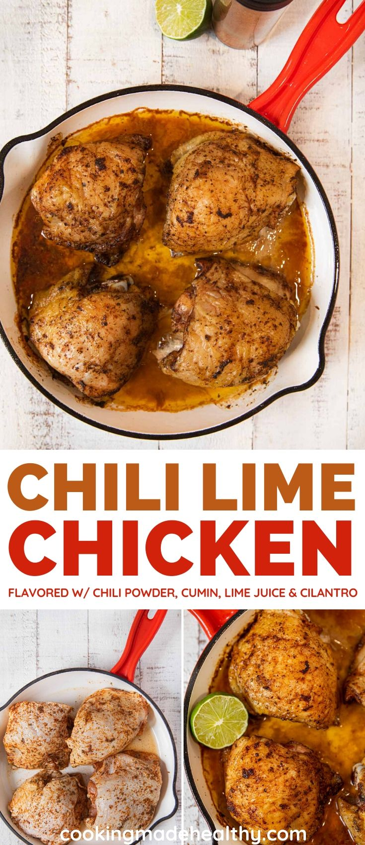 Chili Lime Chicken collage