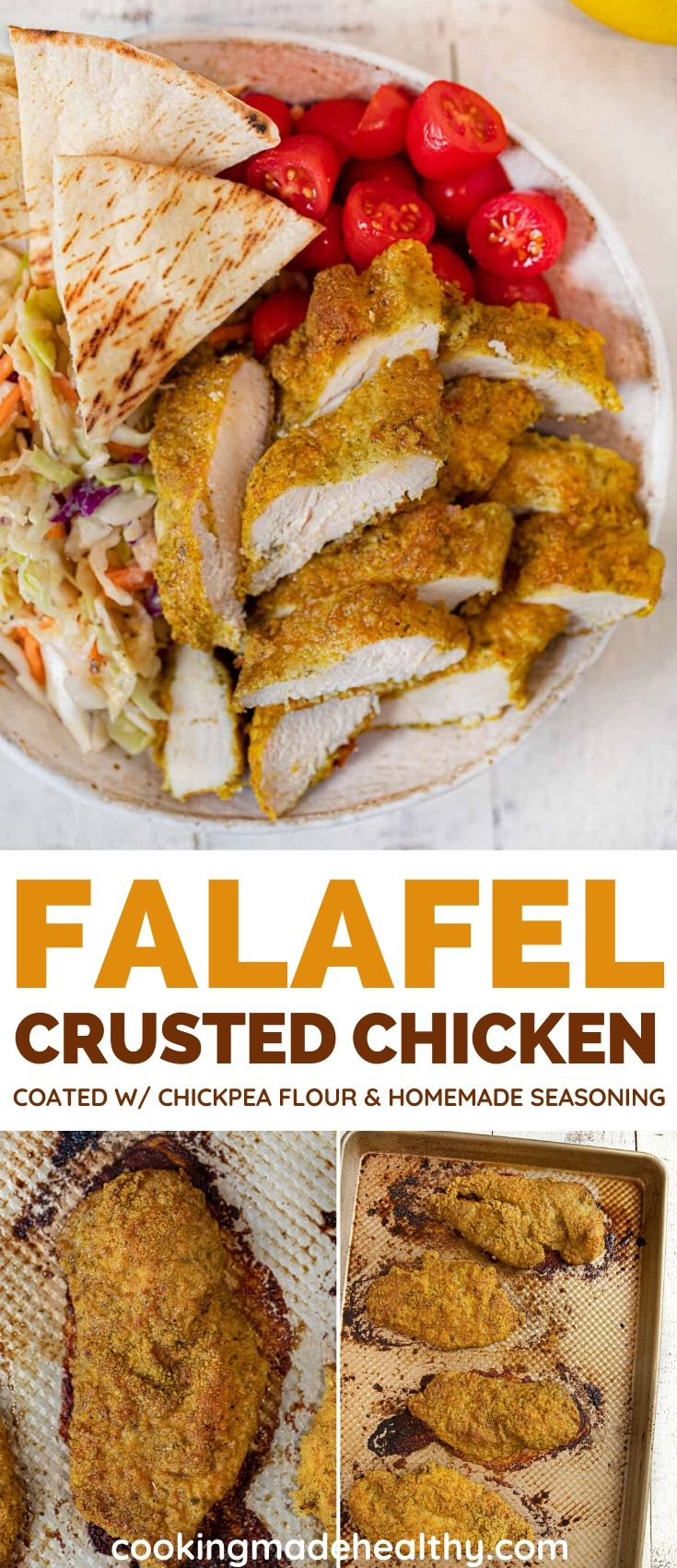 Falafel Crusted Chicken collage