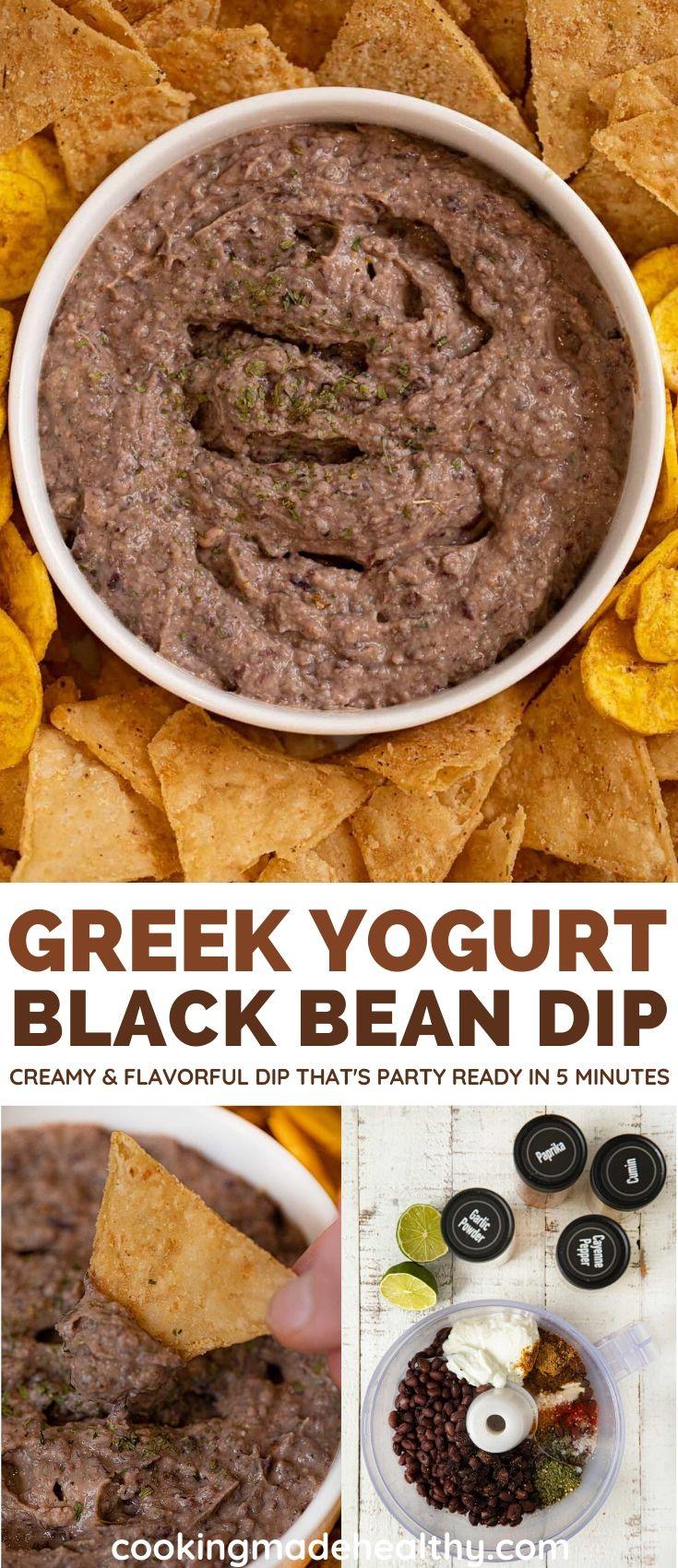 Creamy Black Bean Dip collage