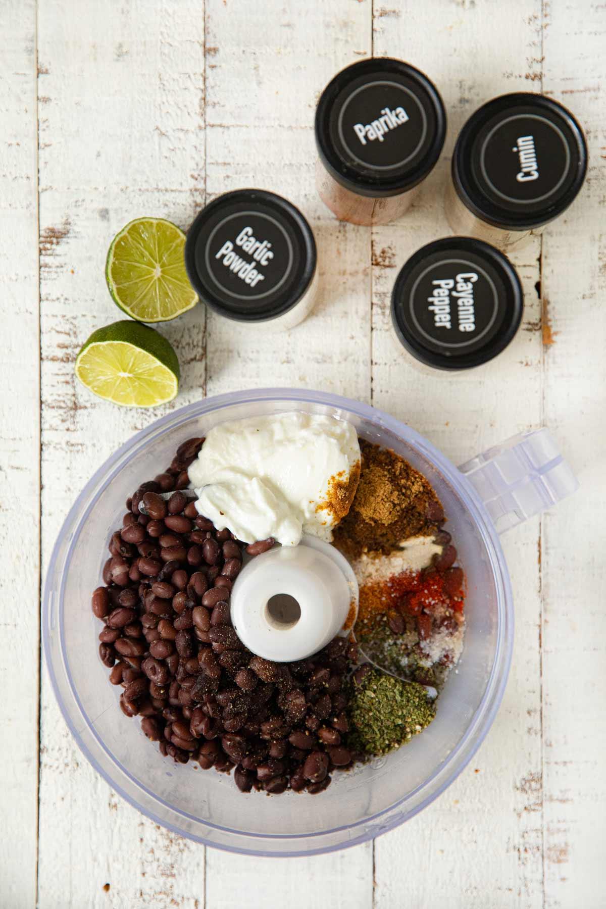 Greek Yogurt Black Bean Dip ingredients