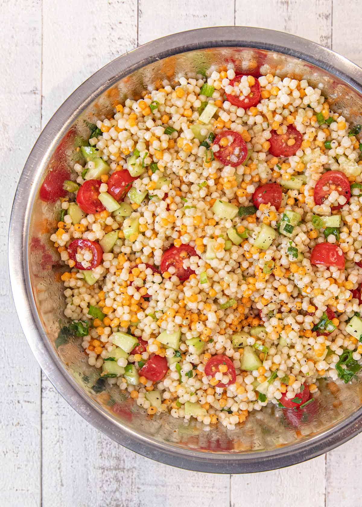Top down photo of Couscous Salad