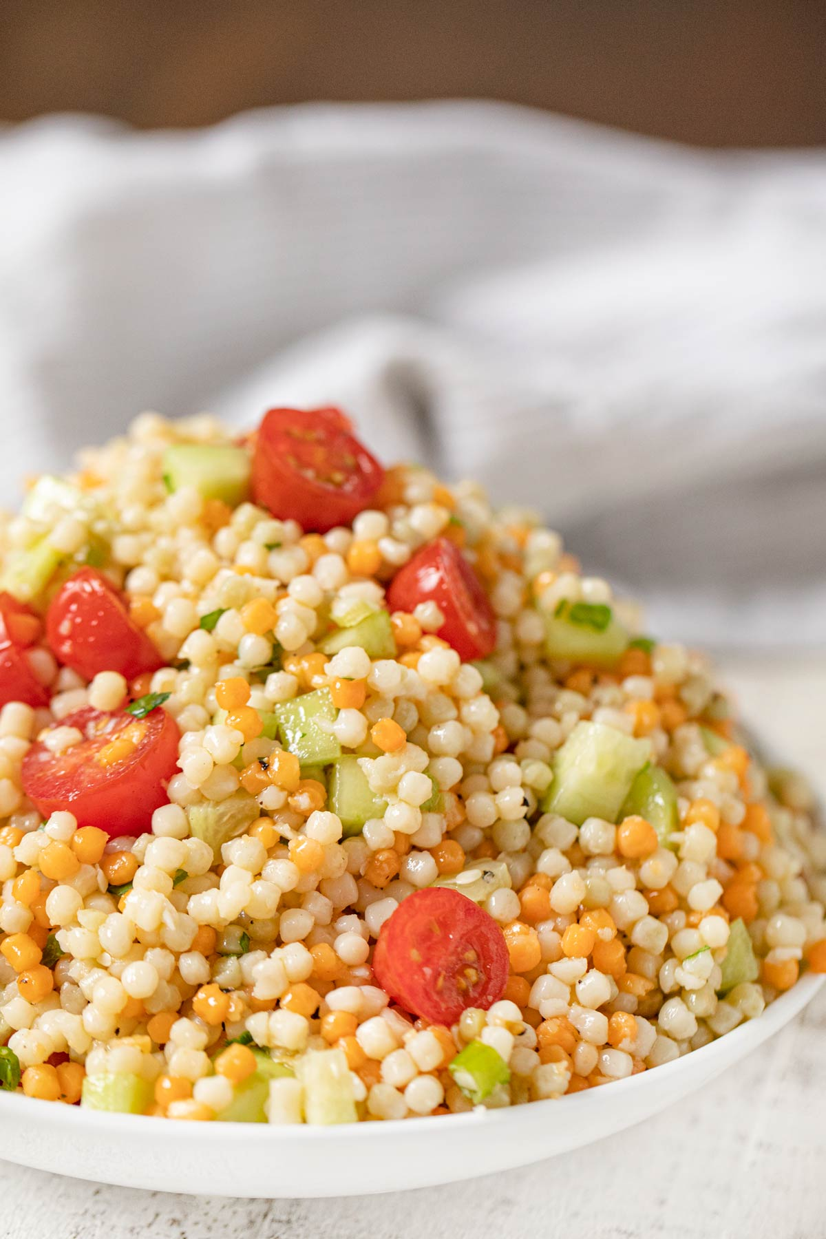 Couscous Salad with grape tomatoes