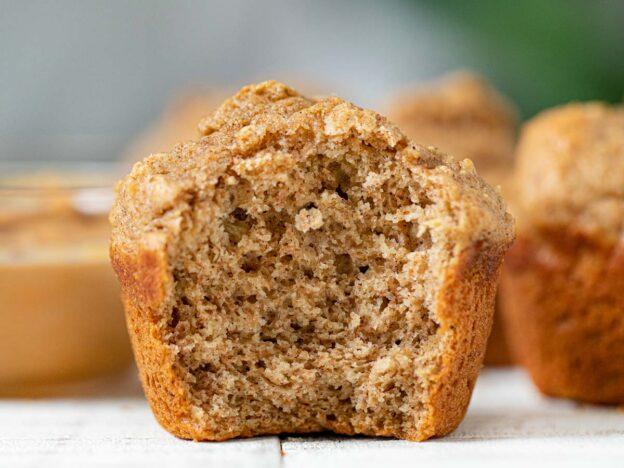 Banana and Peanut Butter Whole Wheat Muffin