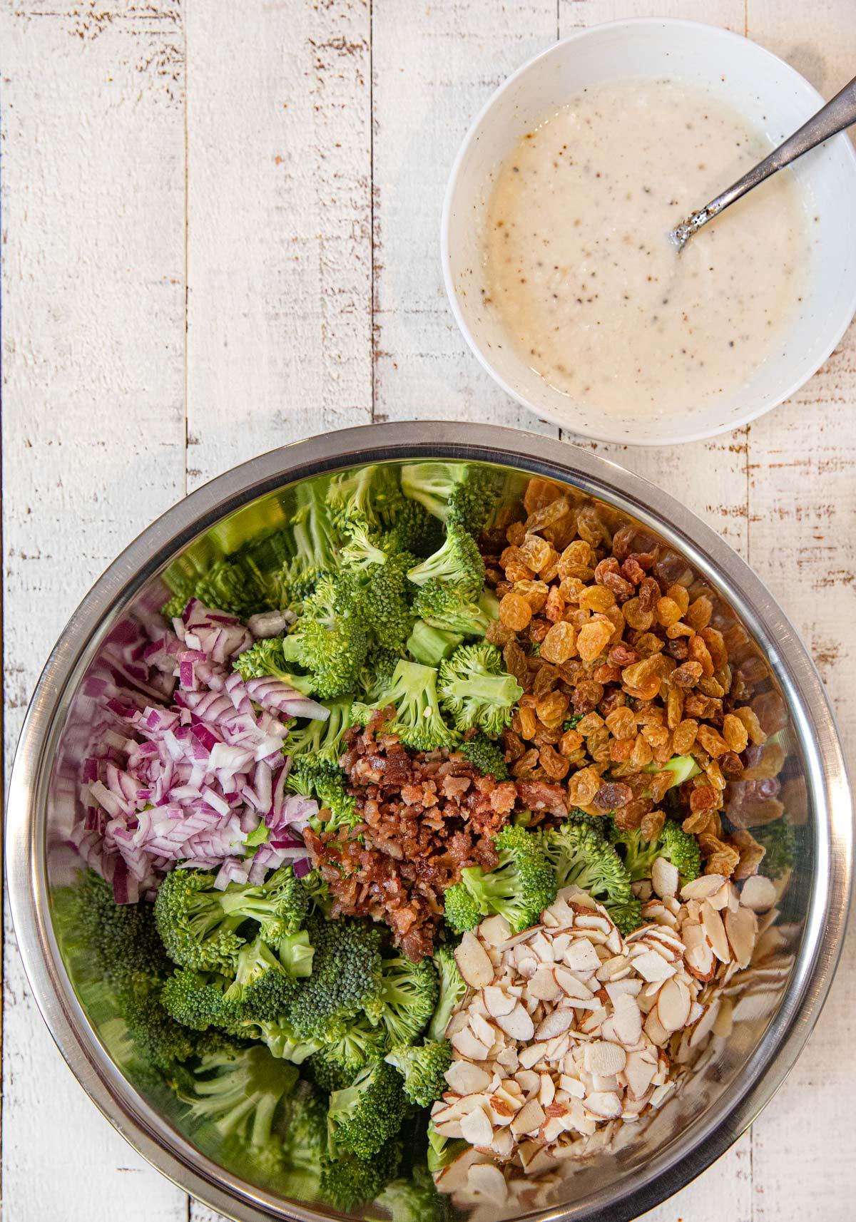 Healthy Broccoli Salad Ingredients