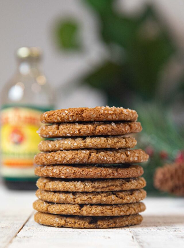Healthy Ginger Cookies in a stack