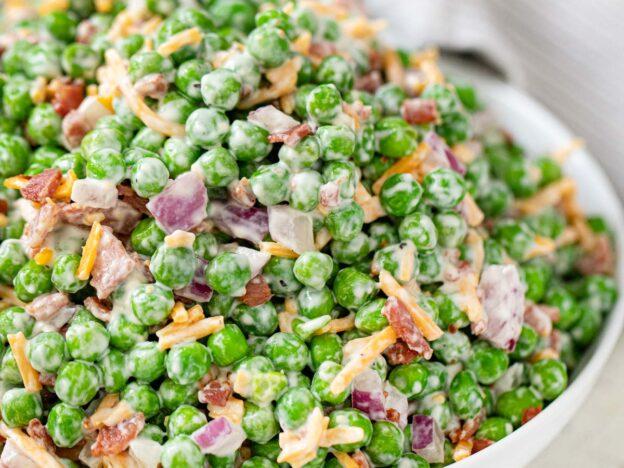 Healthy Pea and Turkey Bacon Salad