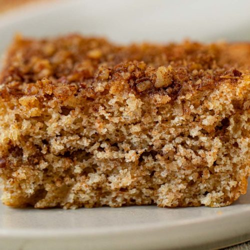 Healthy Sour Cream Coffee Cake serving on plate