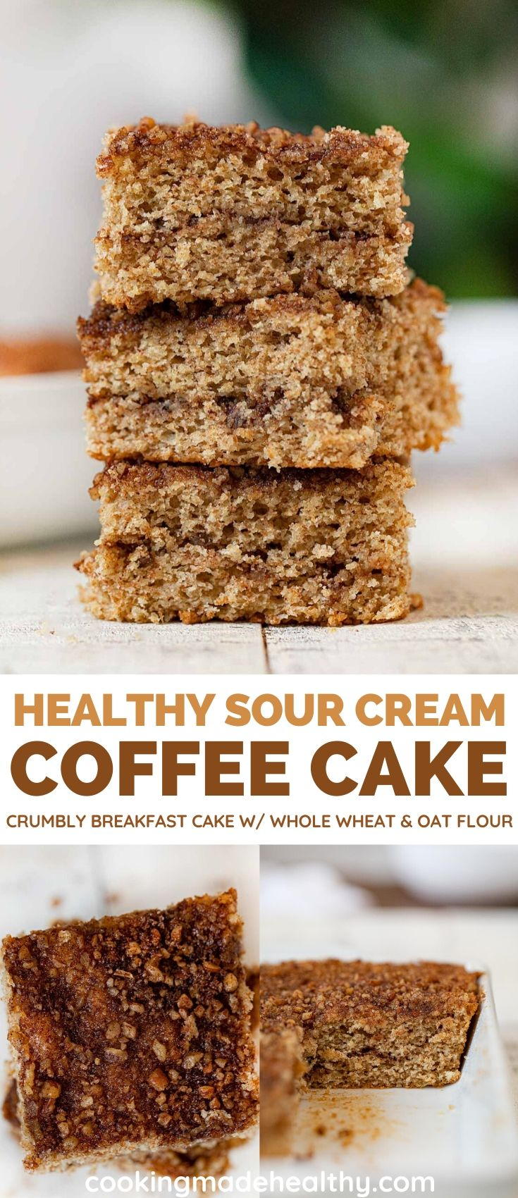 Crumbly Healthy Coffee Cake collage