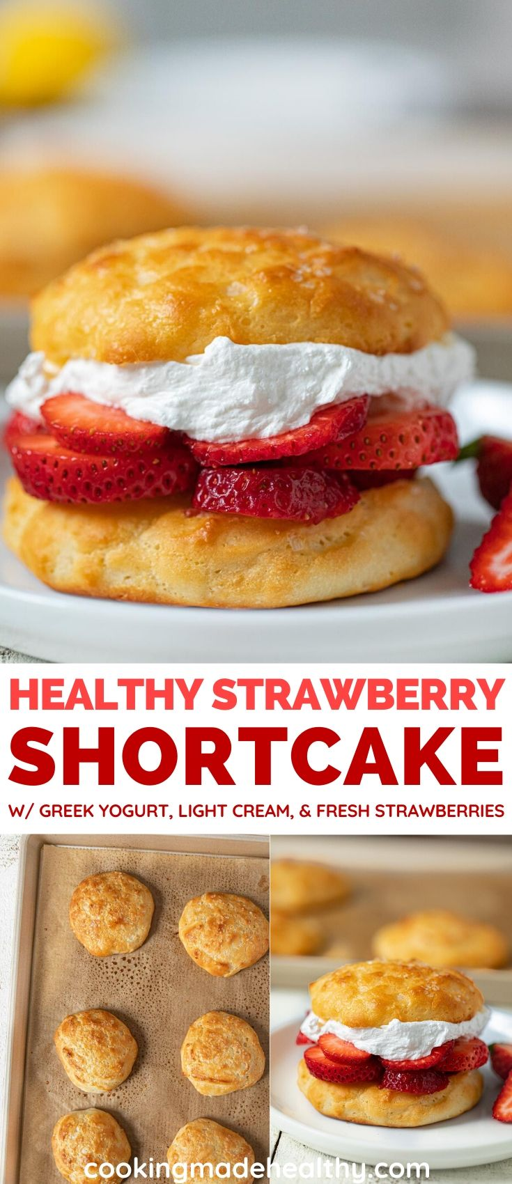 Healthy Strawberry Shortcake Collage