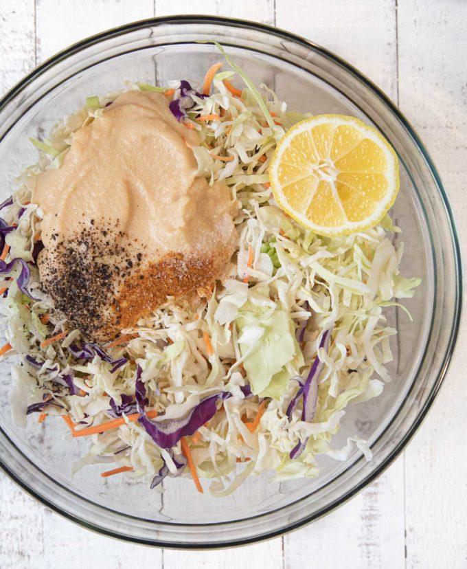 Hummus Slaw ingredients
