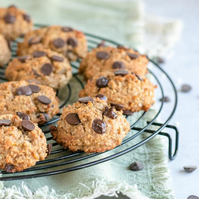 Quinoa Cookies on a cooling rack