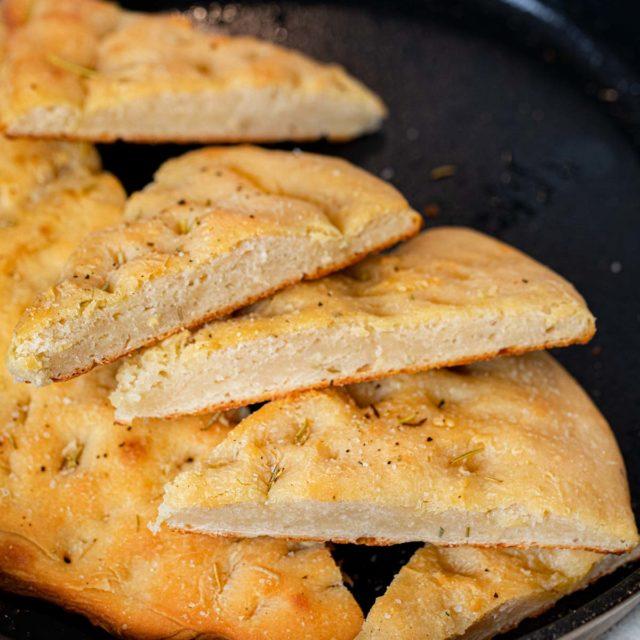 Rosemarry Foccacia Bread slices