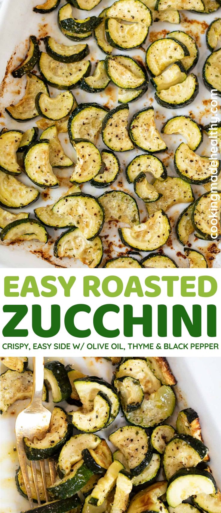 Roasted Zucchini collage