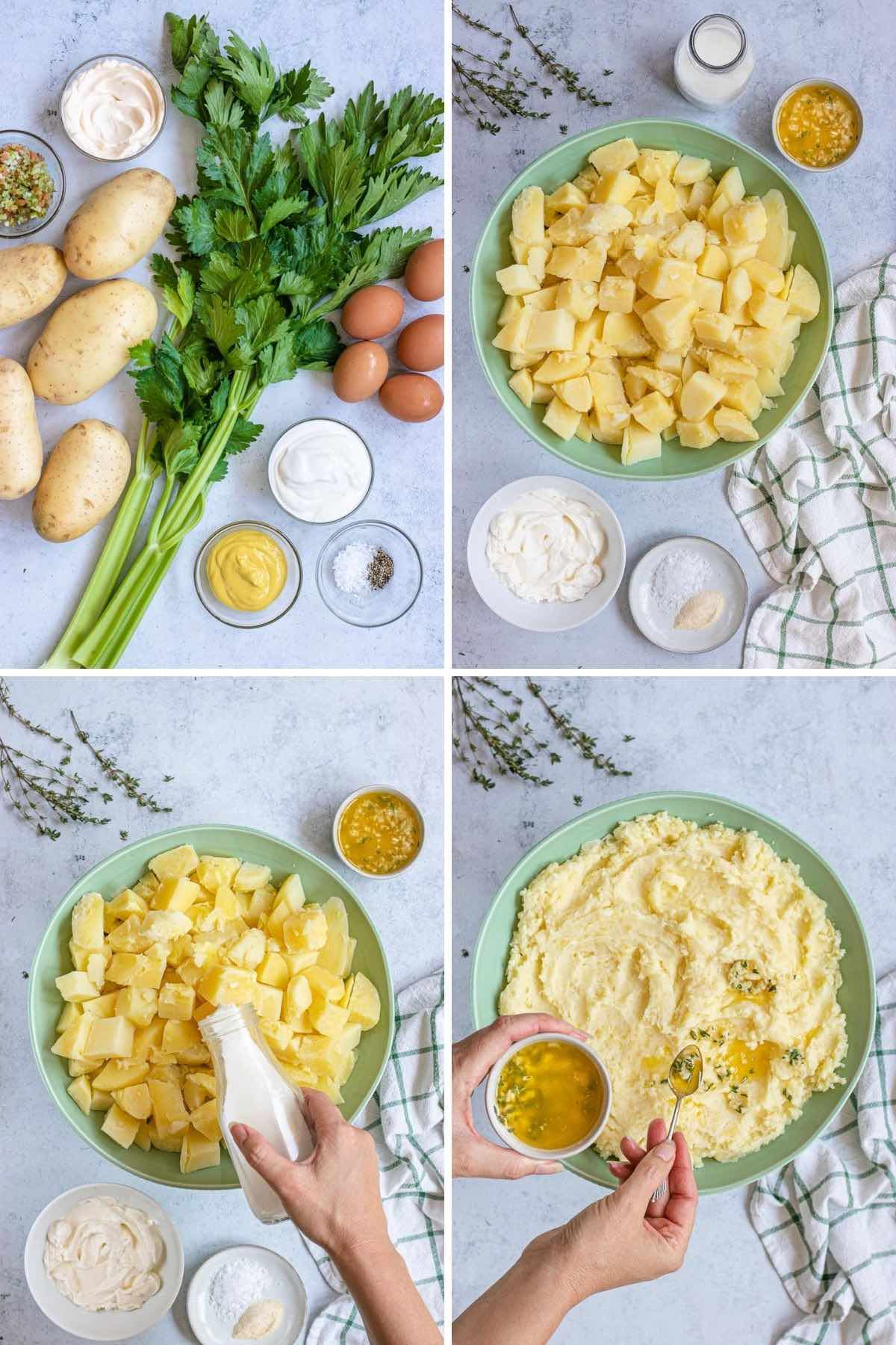 Healthy Mashed Potatoes collage