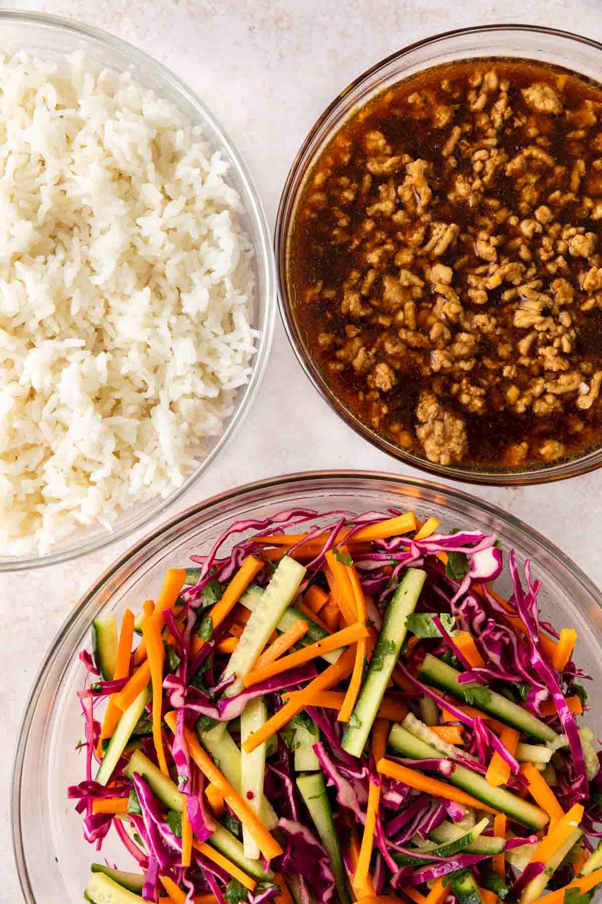 Banh Mi Rice ingredients before mixing