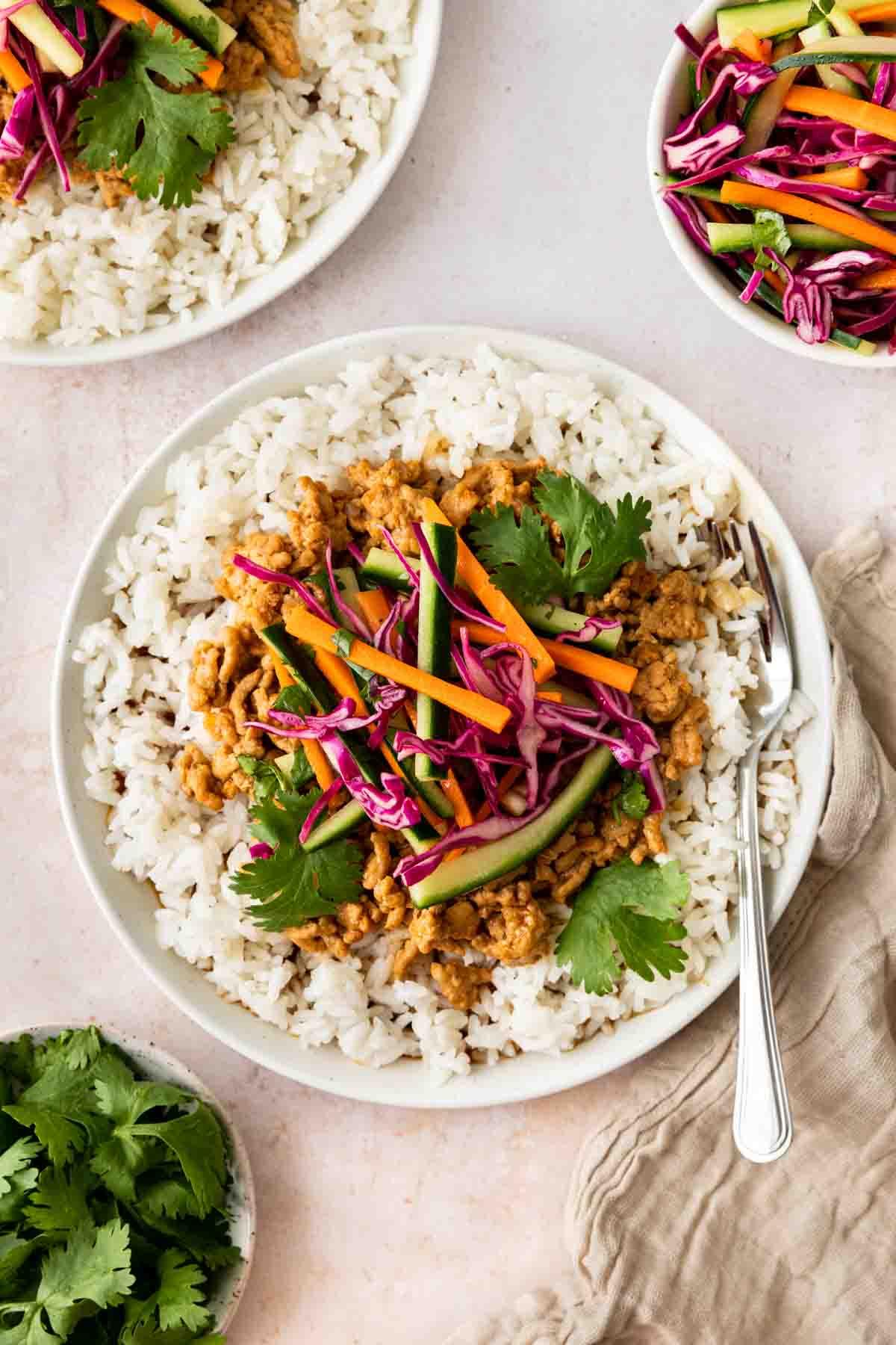 Banh Mi Rice served in bowl
