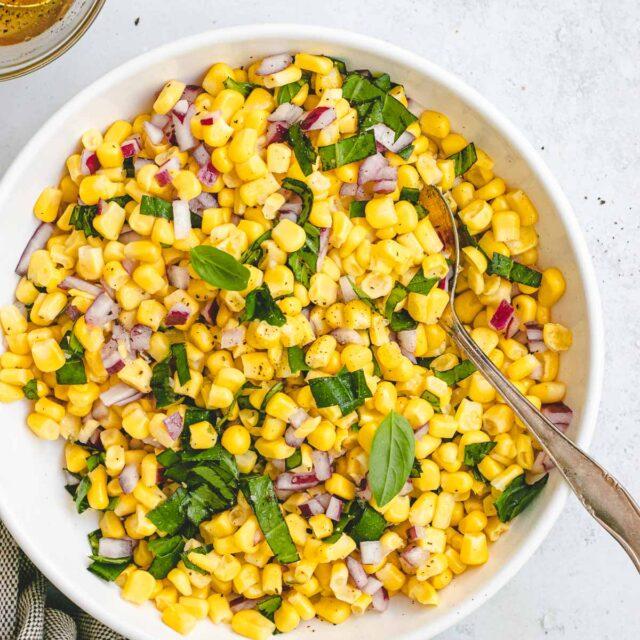 Corn Salad in Bowl