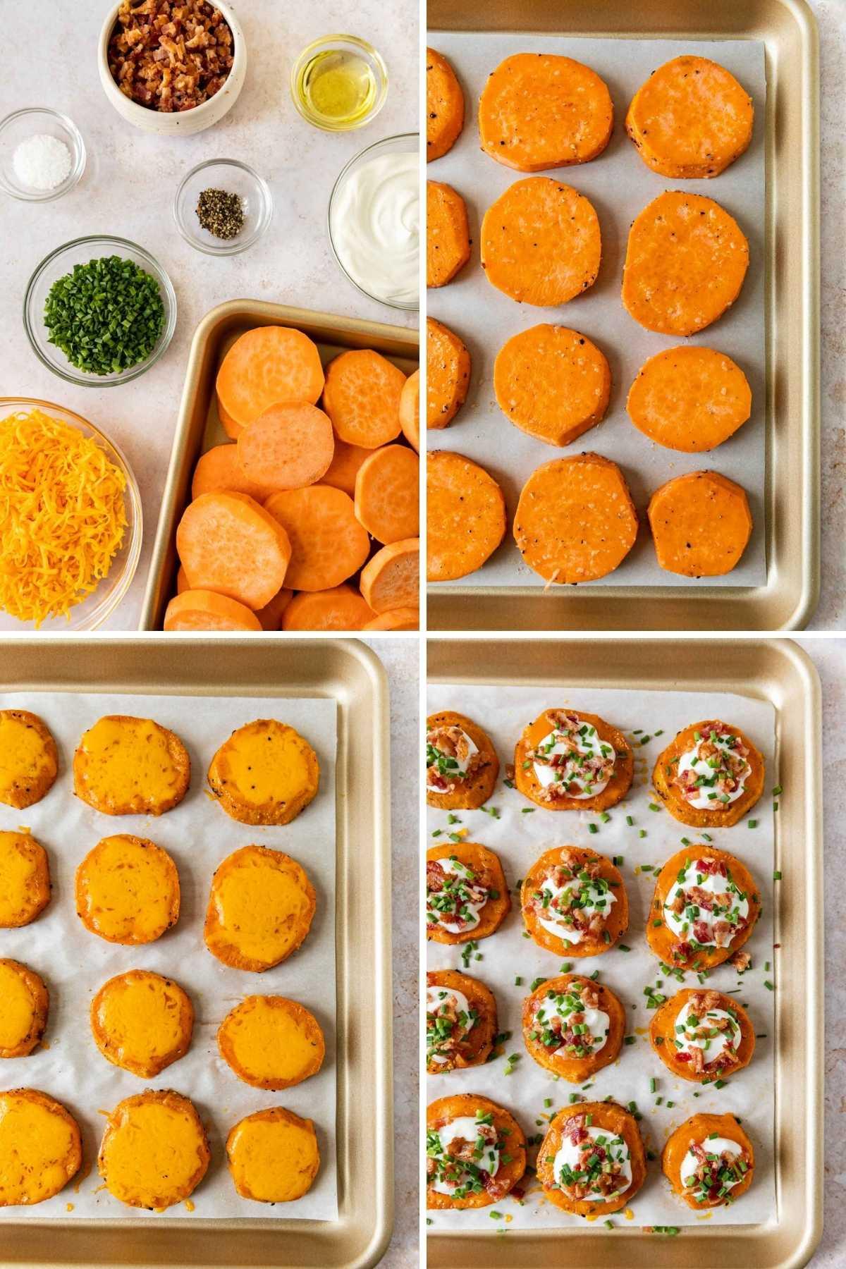 Roasted Sweet Potato Rounds prep steps