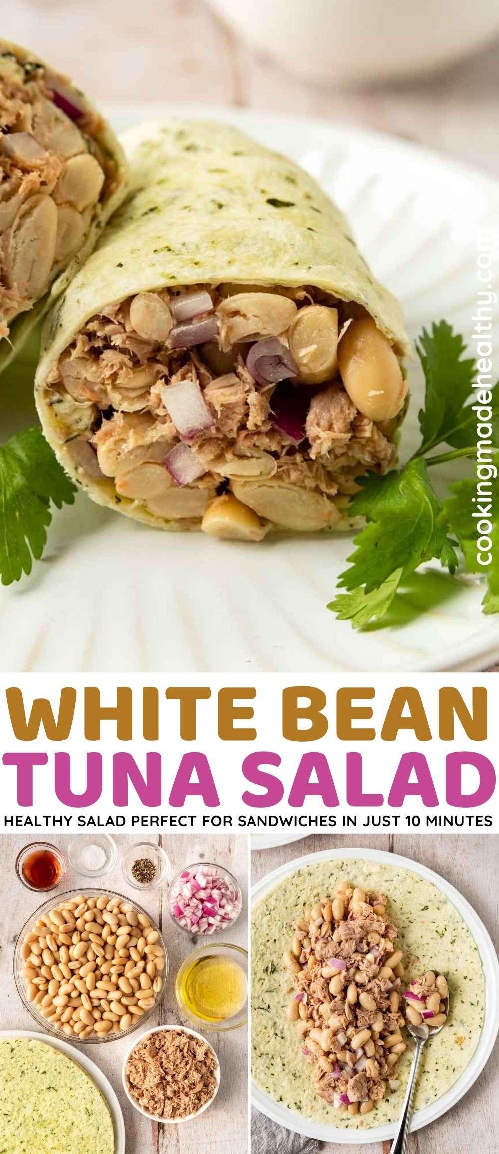 White Bean Tuna Salad collage