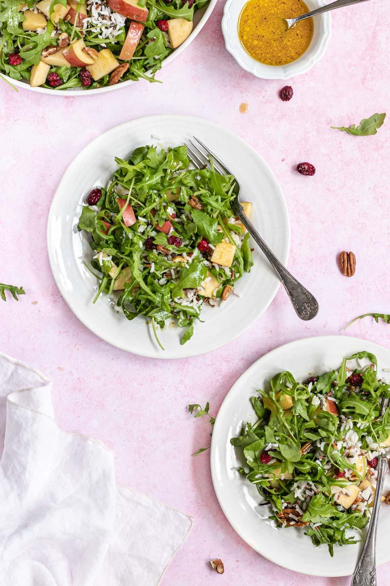 Wild Rice Salad on a plate