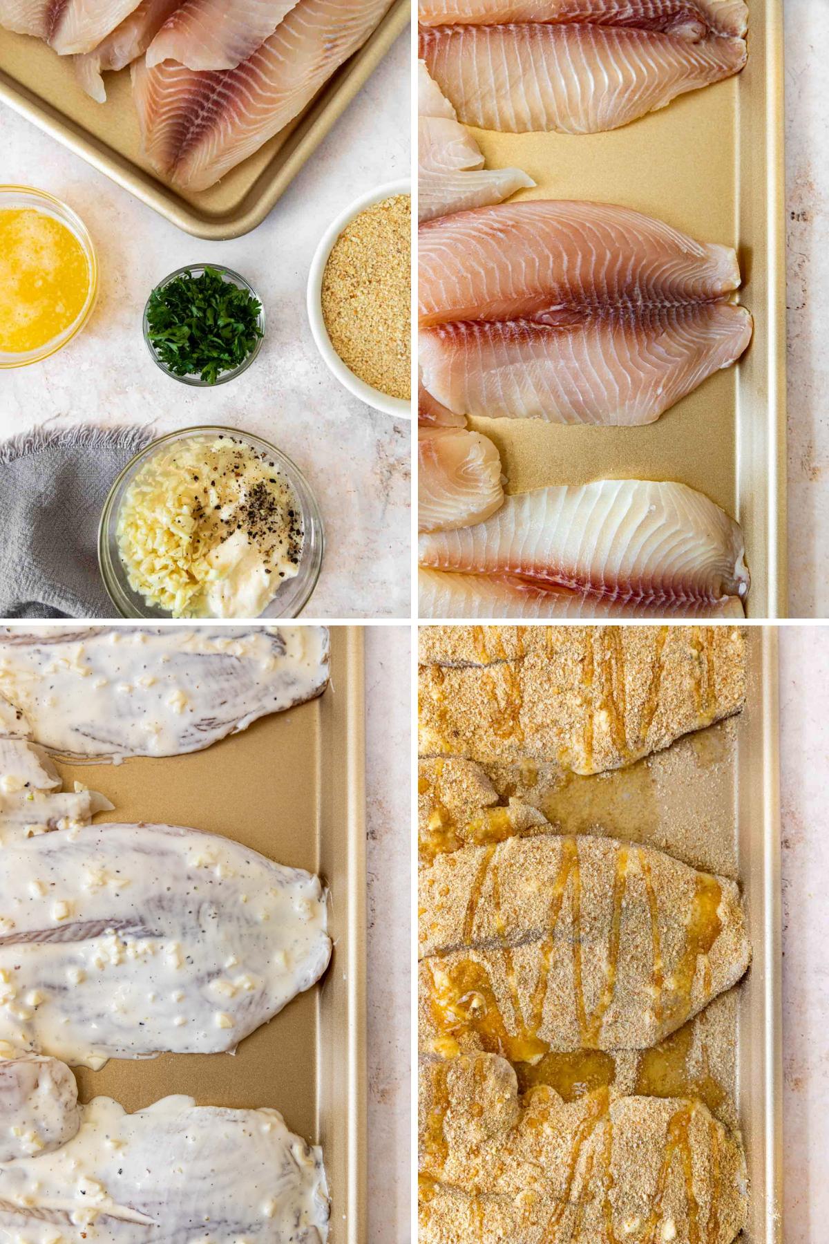 Baked Lemon Garlic Tilapia Collage