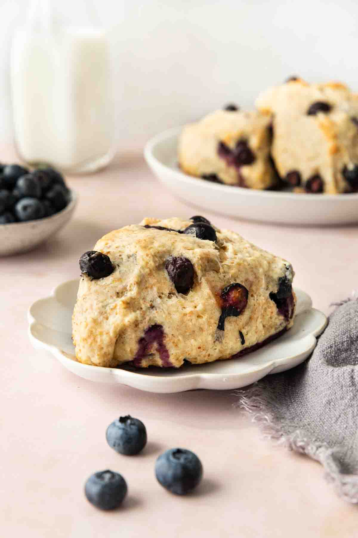 Blueberry Scone on plate