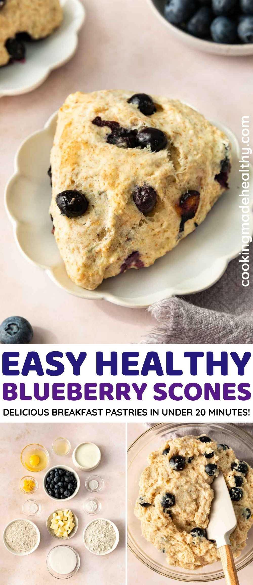 Blueberry Scones collage