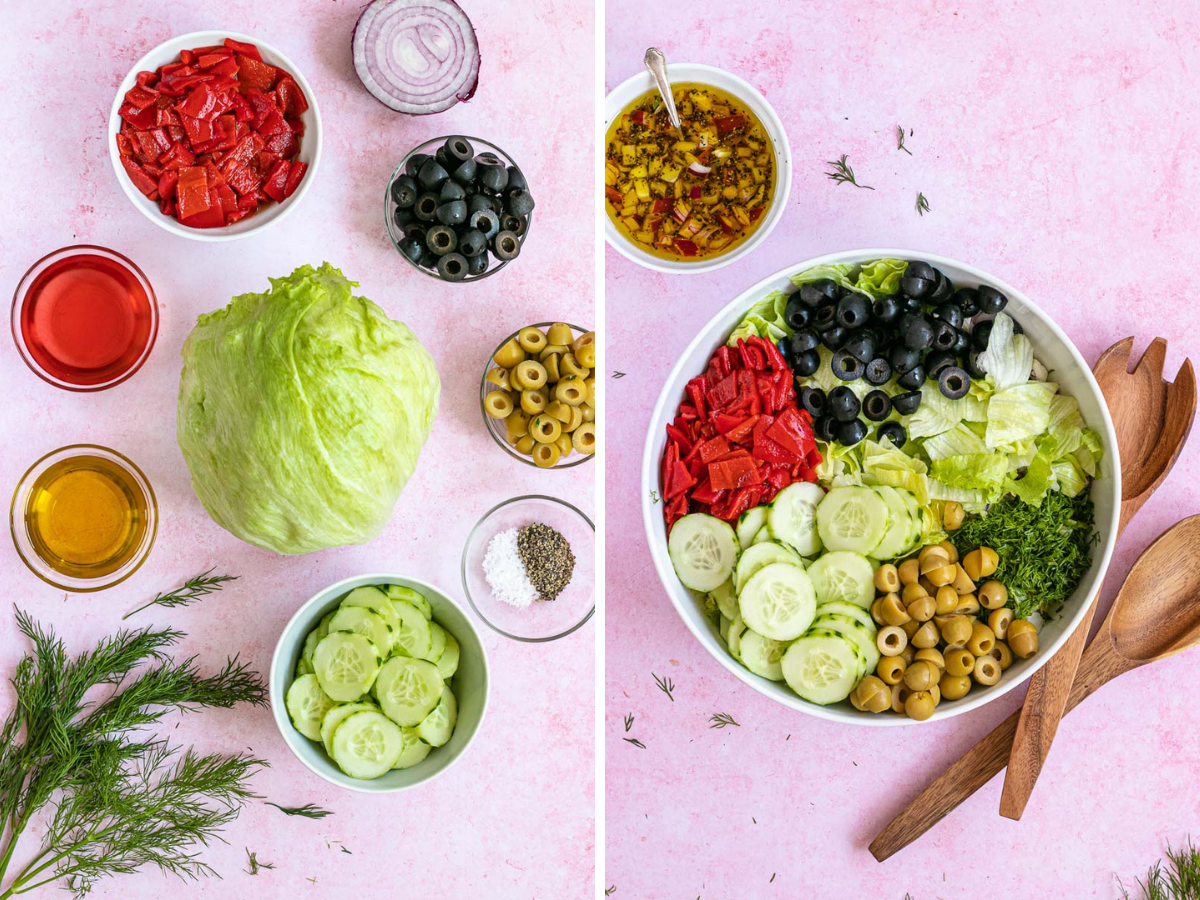 Chopped Salad Collage