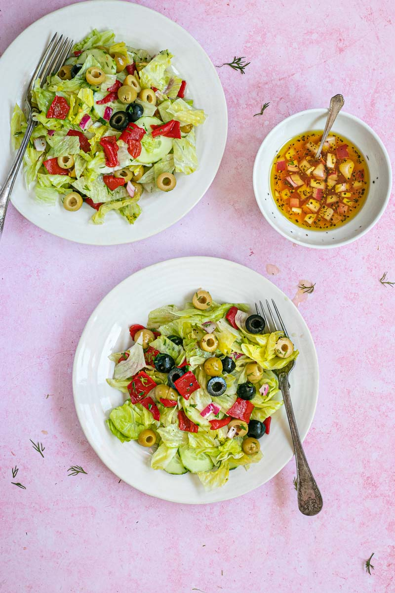 Chopped Salad in bowls