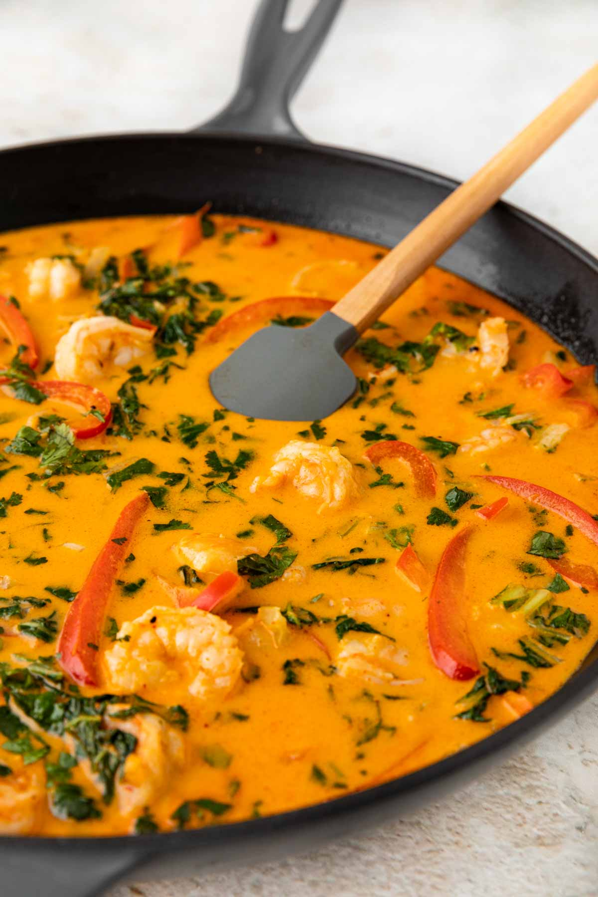 Coconut Shrimp Curry in skillet