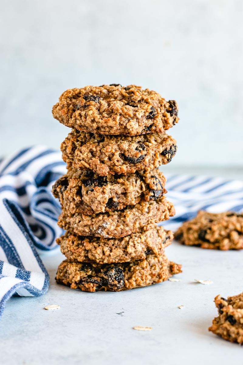 Healthy Cinnamon Oatmeal Raisin Cookies finished