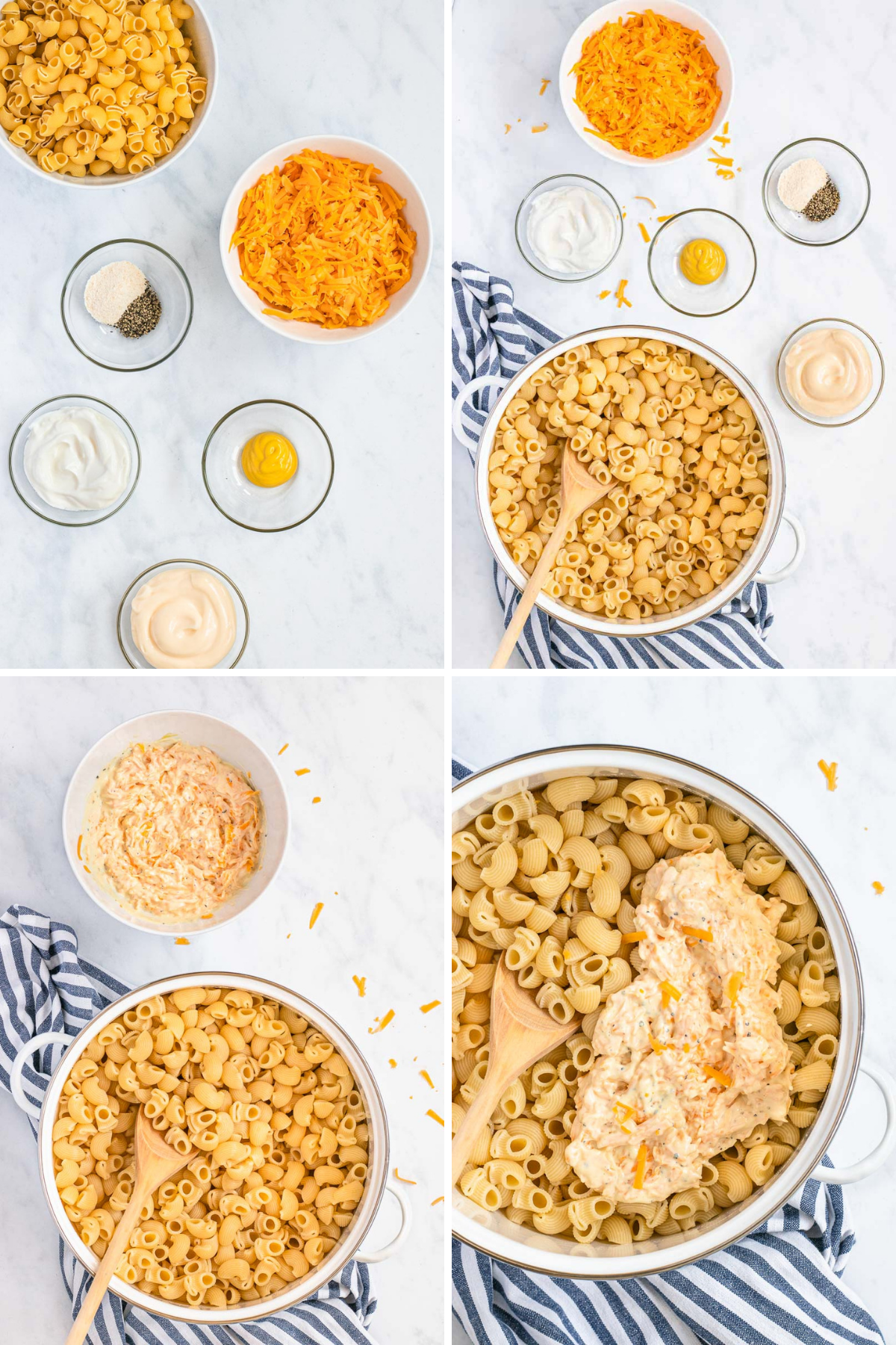 Healthy Creamy Macaroni and Cheese Collage