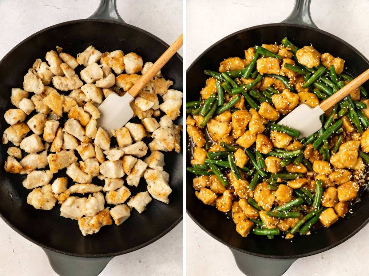 Healthy Lemon Chicken Stir Fry collage